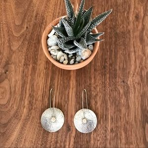 SILPADA Hand pounded disc, drop earrings